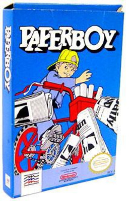 Nintendo NES Paperboy Video Game Cartridge Opened, Complete