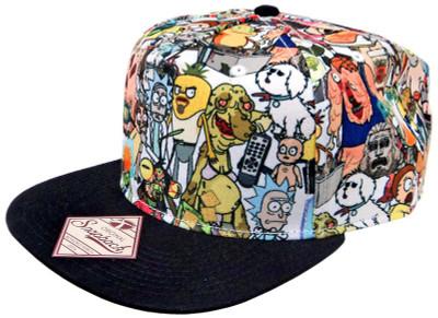 a09a05c5489 2018-04-19. Rick   Morty Allover Snapback Hat