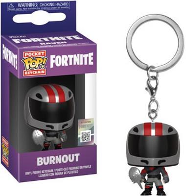 828bdbf7644 Funko Fortnite Series 2 Pocket POP Games Burnout Keychain - ToyWiz
