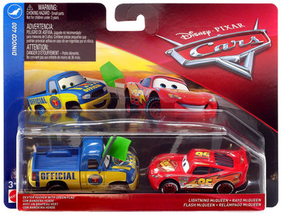 Disney Pixar Cars Lightning McQueen as Chester Whipplefilter with N20 Cola Banner Demo Derby