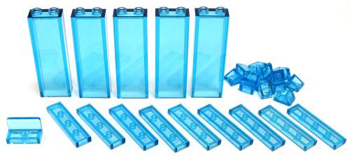 LEGO Minecraft Lot of Ice Blocks Terrain [Trans Aqua Loose]