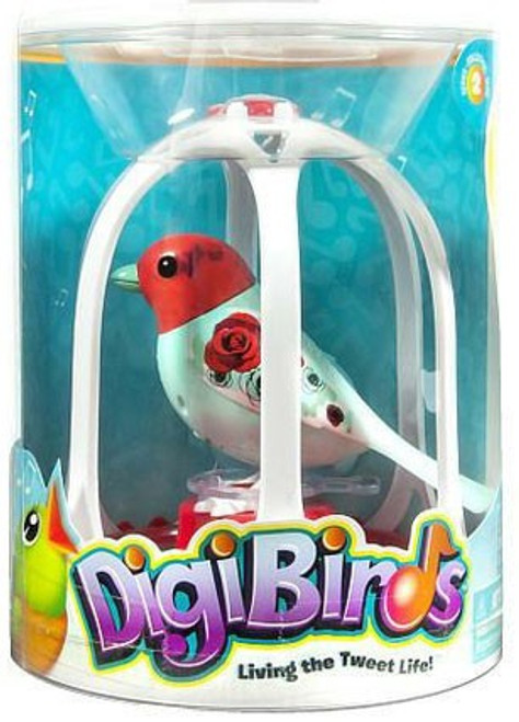 DigiBirds Rose Bird with Bird Cage