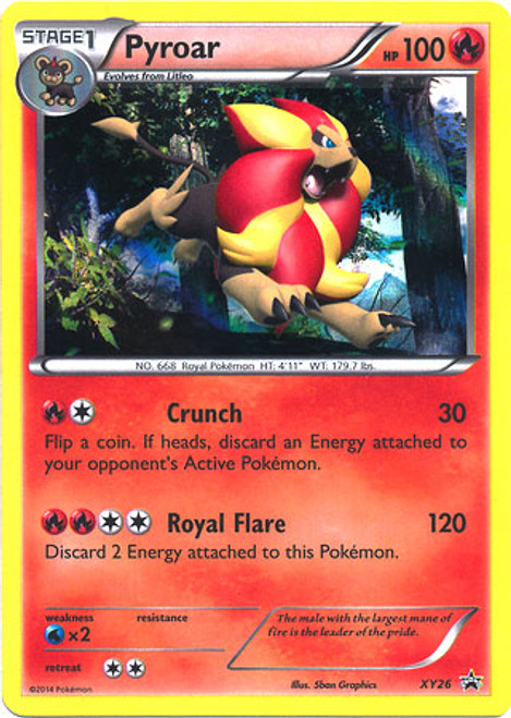 Pokemon X & Y Promo Rare Holo Pyroar XY26