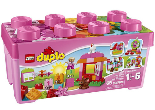 LEGO Duplo All-in-One-Pink-Box-of-Fun Set #10571