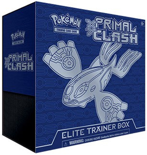 Pokemon Trading Card Game XY Primal Clash Kyogre Elite Trainer Box [8 Booster Packs, 65 Card Sleeves, 45 Energy Cards & More]