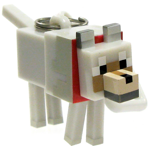 Minecraft Hangers Series 2 Tamed Wolf 3-Inch Keychain [Loose]