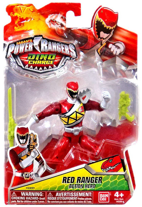 Power Rangers Dino Charge Red Ranger Action Figure [Action Hero]