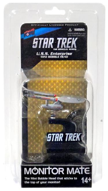 Star Trek The Original Series Monitor Mate U.S.S. Enterprise Mini Bobble Head