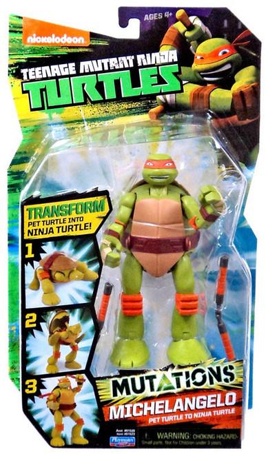 Teenage Mutant Ninja Turtles Nickelodeon Mutations Michelangelo Action Figure [Pet Turtle to Ninja Turtle]