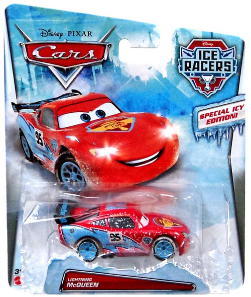 Disney / Pixar Cars Ice Racers Lightning McQueen Diecast Car [Special Icy Edition]