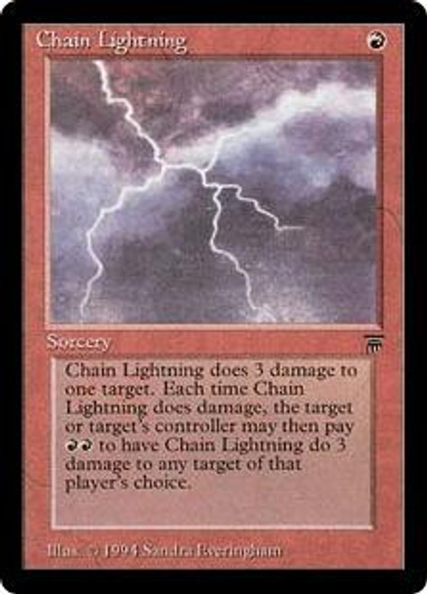 MtG Legends Common Chain Lightning [Played]