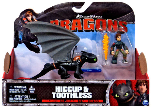 How to Train Your Dragon Dragons Dragon Riders Hiccup & Toothless Action Figure 2-Pack [No Armor]