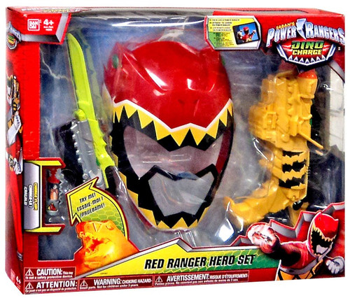 Power Rangers Dino Charge Red Ranger Hero Set Roleplay Toy