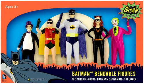 1966 TV Series Batman Bendable Figures Figure 5-Pack