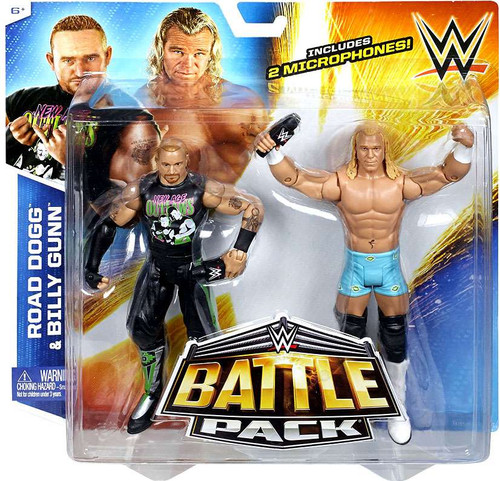 WWE Wrestling Battle Pack Series 32 Road Dogg & Billy Gunn (New Age Outlaws) Action Figure 2-Pack [2 Microphones]