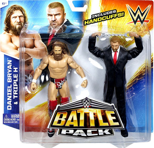 WWE Wrestling Battle Pack Series 32 Daniel Bryan & Triple H Action Figure 2-Pack [Handcuffs]
