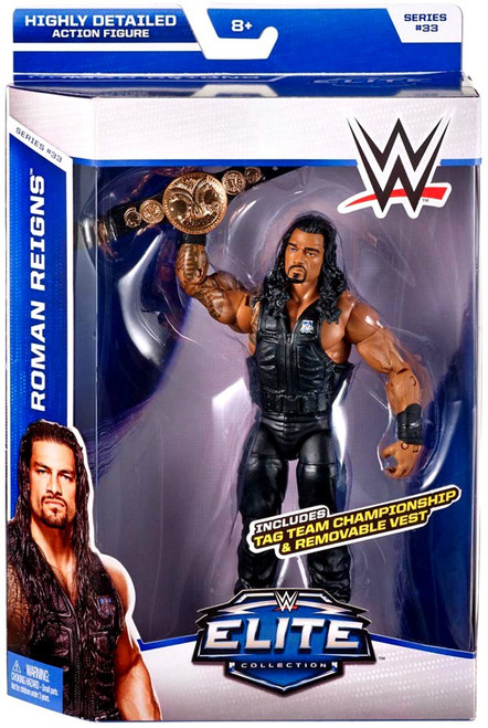 WWE Wrestling Elite Collection Series 33 Roman Reigns Action Figure [Tag Team Championship & Removable Vest]