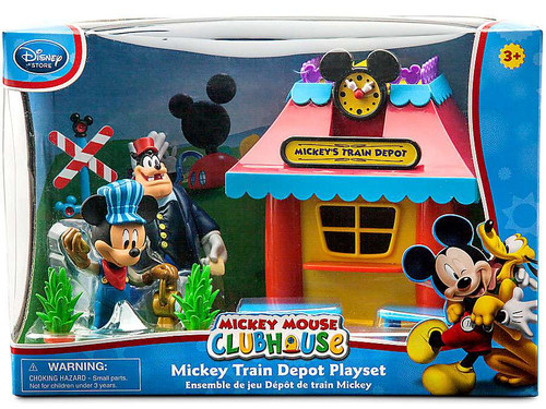 Disney Mickey Mouse Clubhouse Mickey Train Depot Exclusive Playset