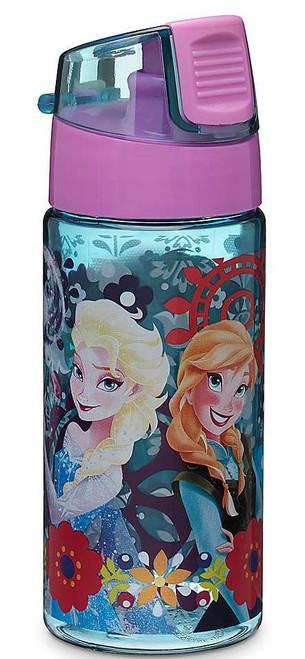 Disney Frozen Anna & Elsa Flowers Water Bottle
