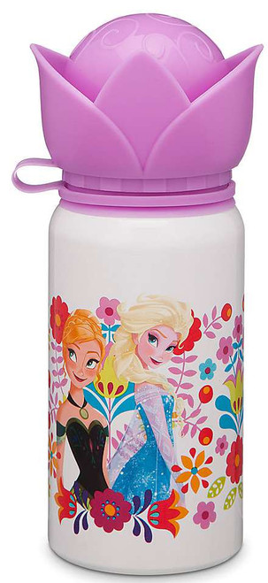 Disney Frozen Aluminum Water Bottle [Purple Flower Top]