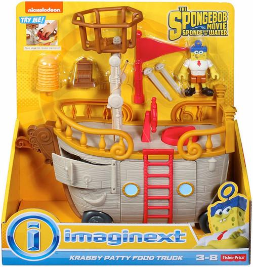 Fisher Price Spongebob Squarepants Imaginext Sponge Out Of Water Krabby Patty Food Truck Set