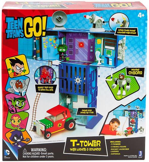 Teen Titans Go! T-Tower with Lights & Sounds Playset [Jazwares]