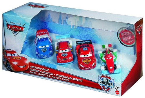 Disney / Pixar Cars Ice Racers Moscow Race Exclusive Diecast Car 4-Pack