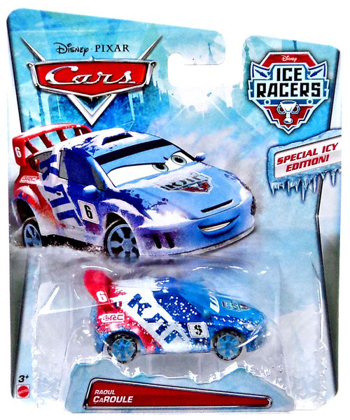 Disney / Pixar Cars Ice Racers Raoul Caroule Diecast Car [Special Icy Edition]
