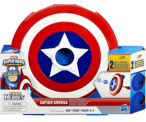 Playskool Heroes Super Hero Adventures Captain America Shield Launcher Roleplay Toy