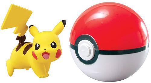 Pokemon Clip n Carry Pokeball Pikachu with Poke Ball Figure Set