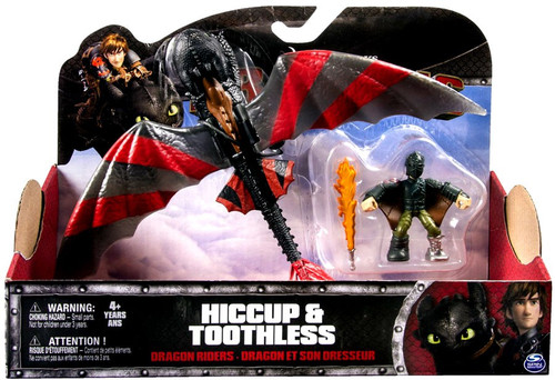 How to Train Your Dragon Dragons Dragon Riders Hiccup & Toothless Action Figure 2-Pack [Armor / Red Stripes]