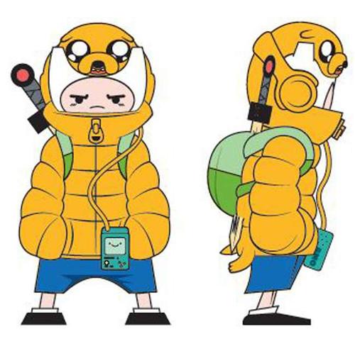 Adventure Time Puff Jake N Lil Finn Action Figure