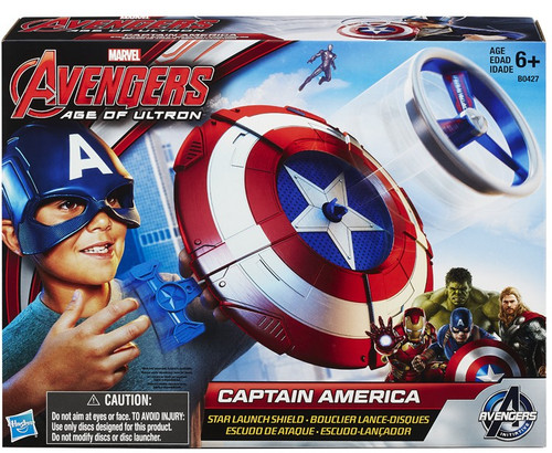 Marvel Avengers Age of Ultron Captain America Star Launch Shield 11-Inch Roleplay Toy