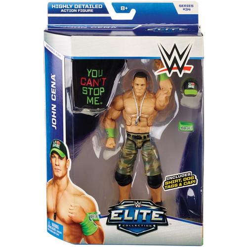 WWE Wrestling Elite Collection Series 34 John Cena Action Figure [Shirt, Dog Tags & Cap]