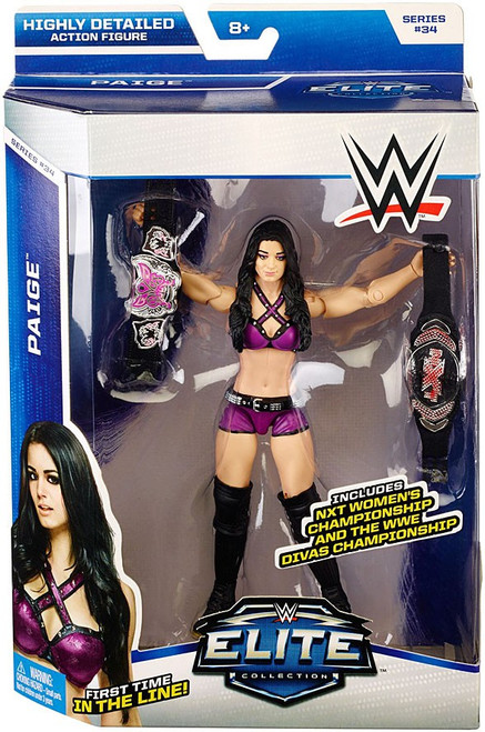WWE Wrestling Elite Collection Series 34 Paige Action Figure [NXT Women's & WWE Divas Championships]