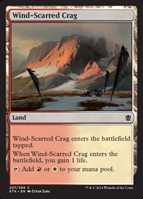 MtG Khans of Tarkir Common Foil Wind-Scarred Crag #247