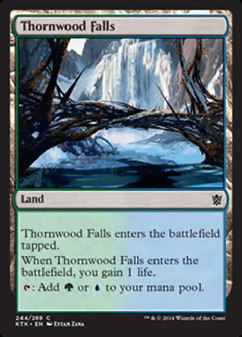 MtG Khans of Tarkir Common Foil Thornwood Falls #244