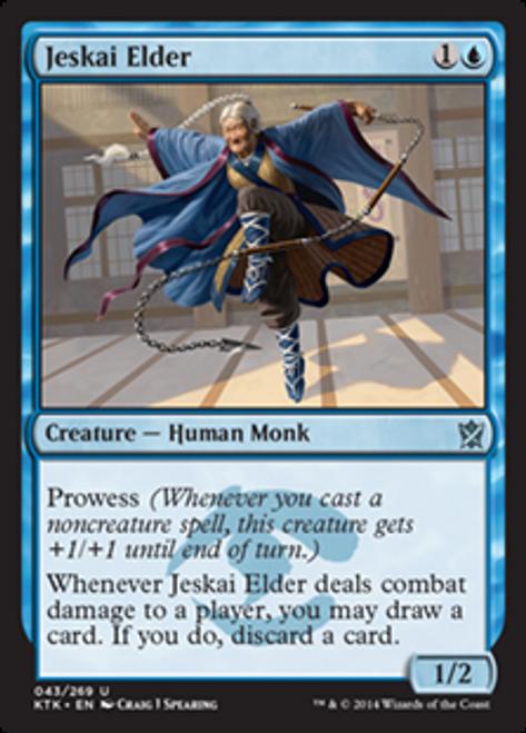 MtG Khans of Tarkir Uncommon Foil Jeskai Elder #43