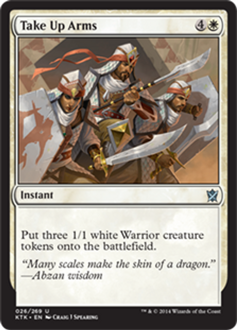 MtG Khans of Tarkir Uncommon Foil Take Up Arms #26