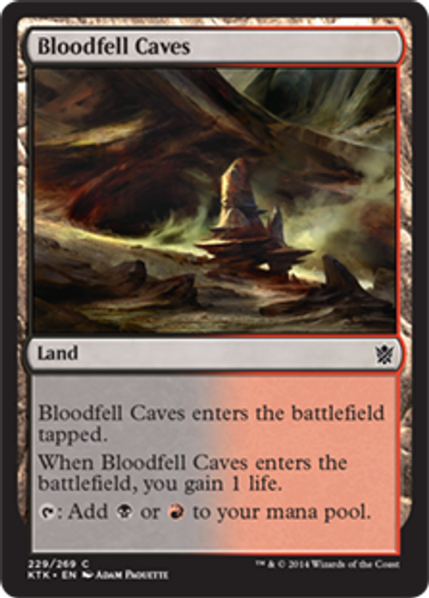 MtG Khans of Tarkir Common Foil Bloodfell Caves #229