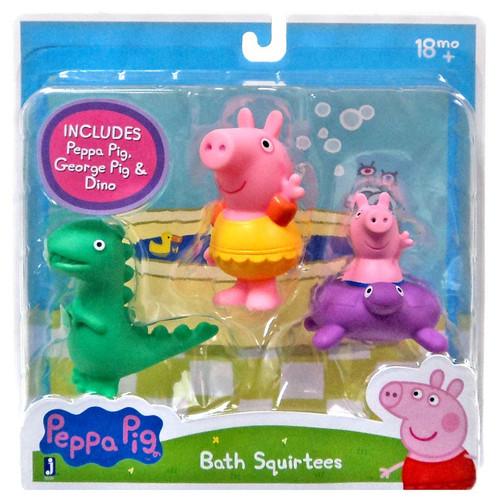 Peppa Pig, George Pig & Dino Bath Squirtees