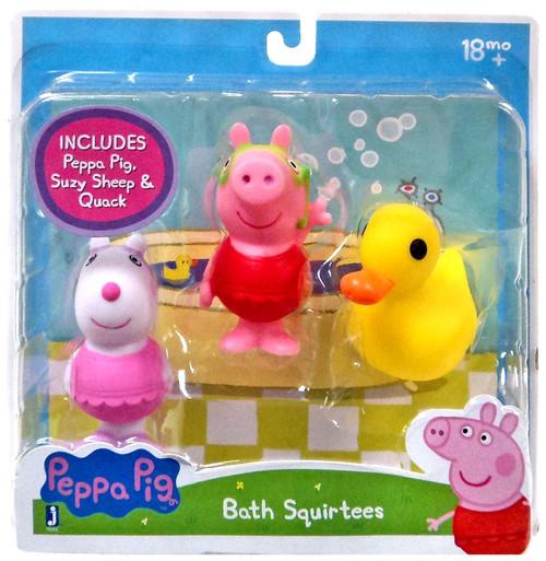 Peppa Pig, Suzy Sheep & Quack Bath Squirtees