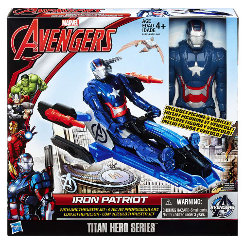 Marvel Avengers Titan Hero Series Iron Patriot with Arc Thruster Action Figure Vehicle