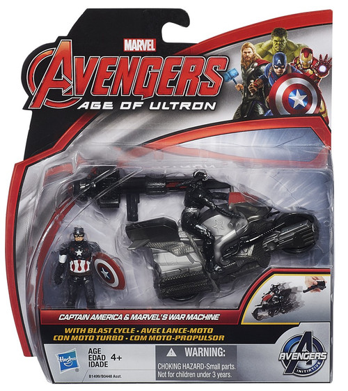 Avengers Age of Ultron Captain America & Marvel's War Machine 3.75-Inch [With Blast Cycle]