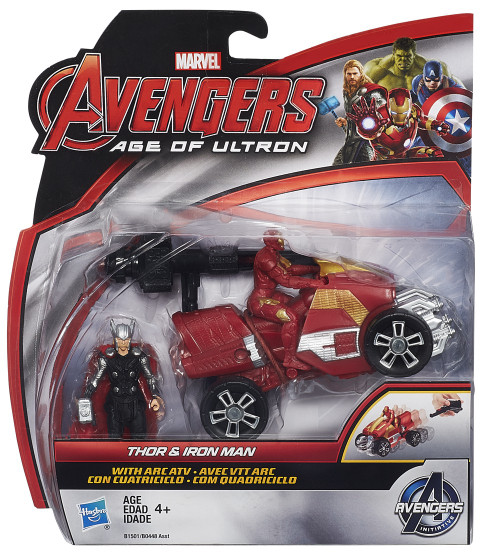 Marvel Avengers Age of Ultron Thor & Iron Man 2.5-Inch [With Arc ATV]