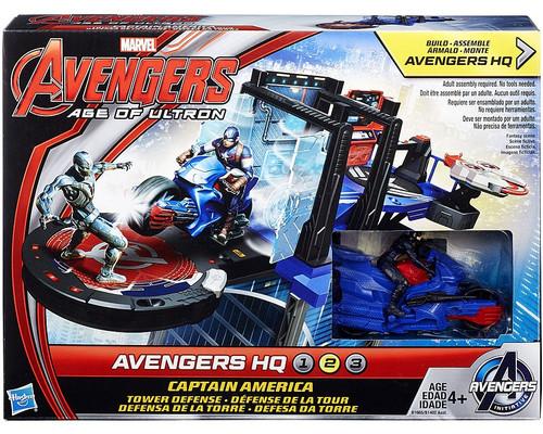 Marvel Avengers Age of Ultron Captain America Tower Defense Action Figure Set