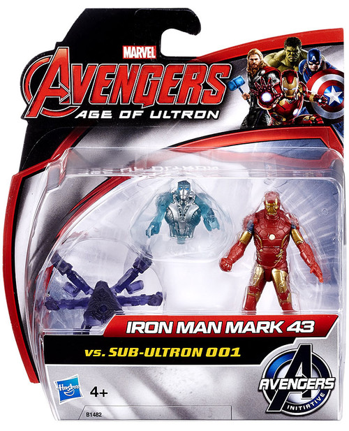 Marvel Avengers Age of Ultron Iron Man Mark 43 vs. Sub-Ultron 001 Action Figure 2-Pack