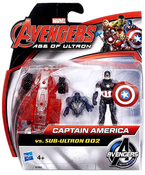 Marvel Avengers Age of Ultron Captain America vs. Sub-Ultron 002 Action Figure 2-Pack