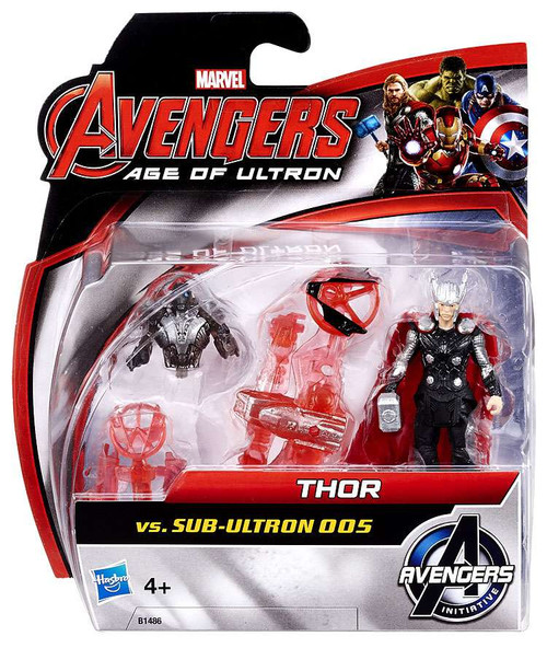 Marvel Avengers Age of Ultron Thor vs. Sub-Ultron 005 Action Figure 2-Pack
