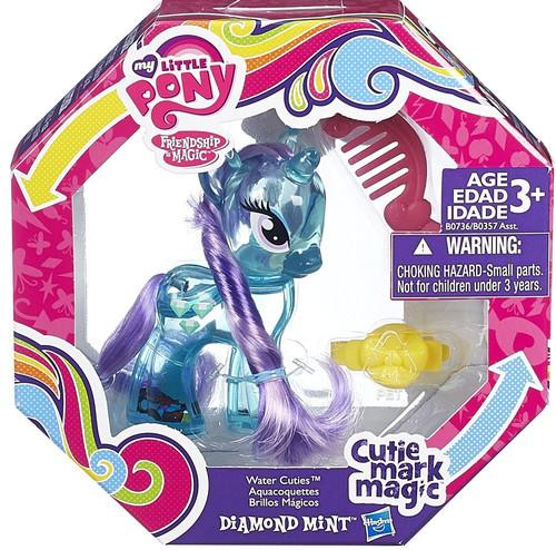 My Little Pony Friendship is Magic Cutie Mark Magic Water Cuties Diamond Mint Figure